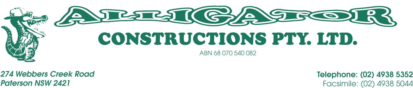 Alligator Constructions